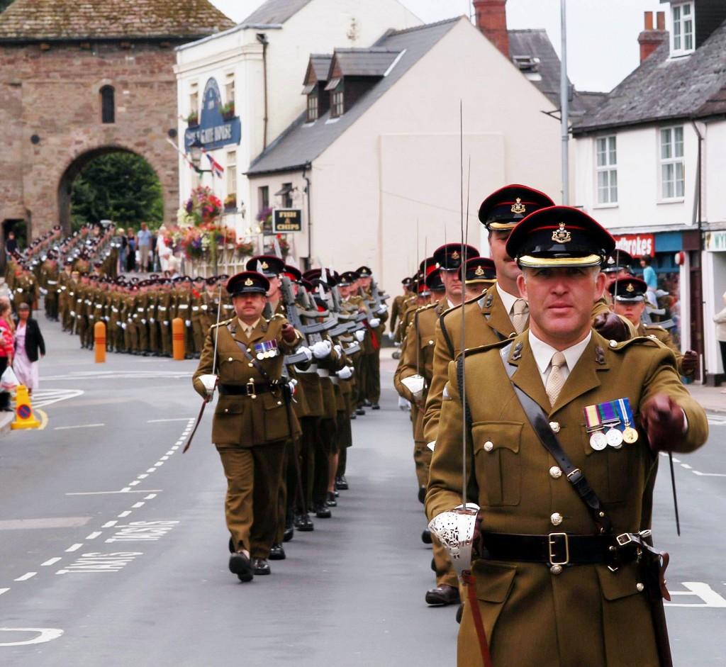 7   Regiment march through t