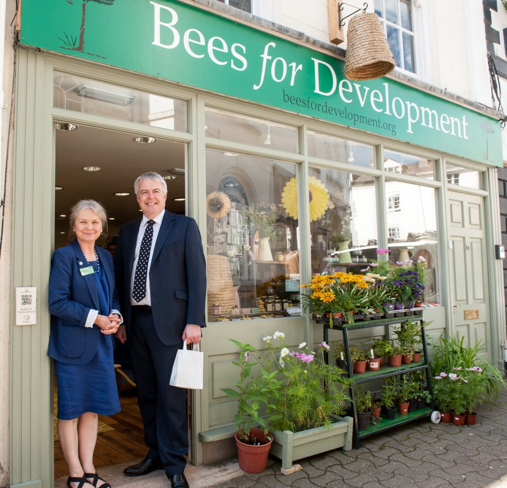 Visits Bees for Development in Monmouth